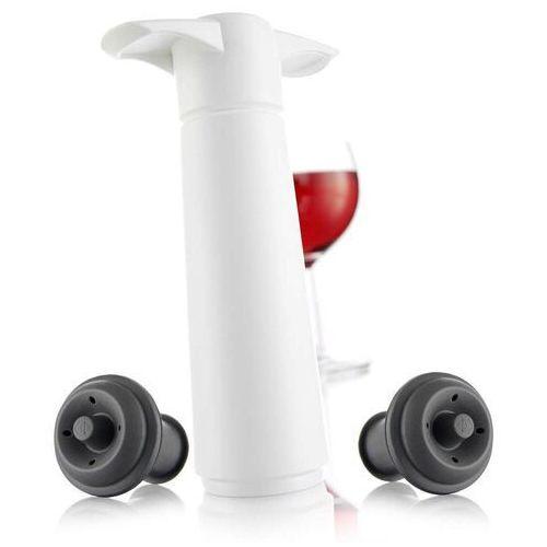 Vacu vin - pompka do wina z 2 korkami, biała (8714793098121)