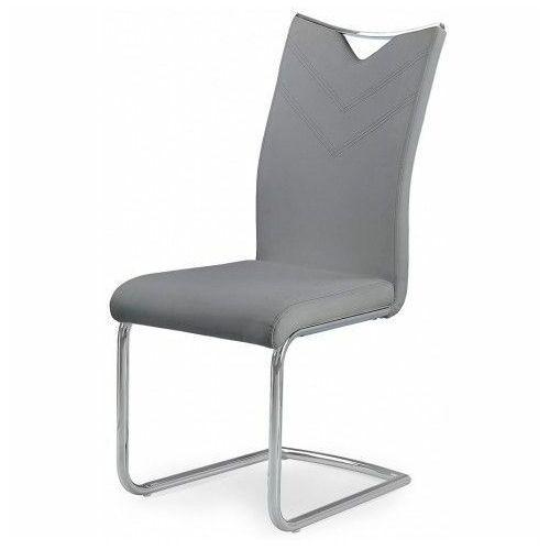 Minimalistyczne krzesło Eldor - popielate