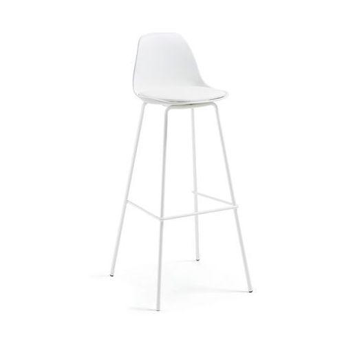 Hoker / Krzesło barowe LYRIA biały - biały