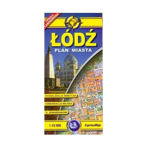 Łódź plan miasta 1:22 000 (2 str.)