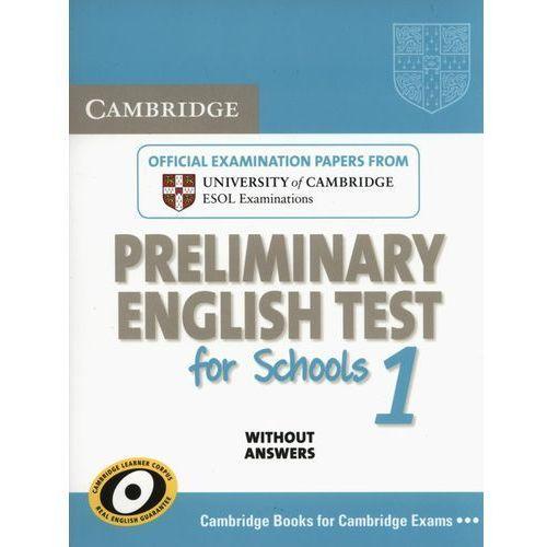 Cambridge PET for Schools 1 Student's Book (podręcznik) without Answers, oprawa miękka