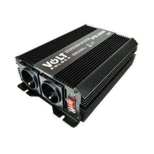 Volt ips 2000 przetwornica napięcia 1300w/2000w 12v/230v