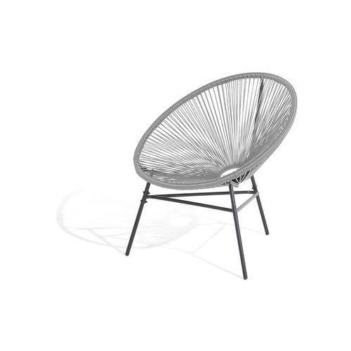 Beliani Krzesło ogrodowe jasnoszare acapulco