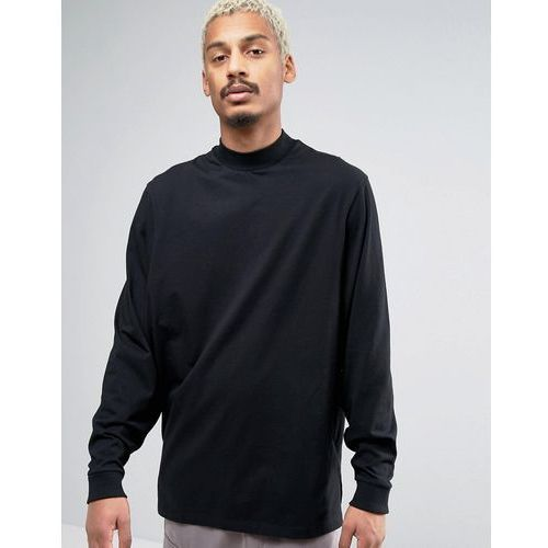 ASOS Oversized Long Sleeve T-Shirt With Extreme Batwing Sleeves In Black - Black