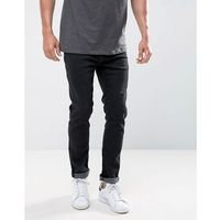 Ldn dnm slim fit jeans in washed black - black