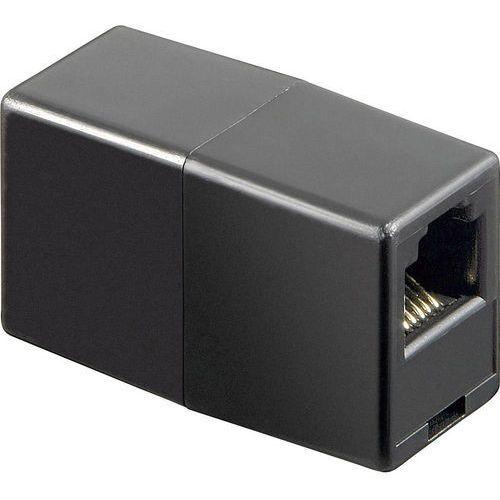Przejściówka, adapter isdn [1x złącze żeńskie rj12 6p6c - 1x złącze żeńskie rj12 6p6c] 0 m czarny  marki Goobay