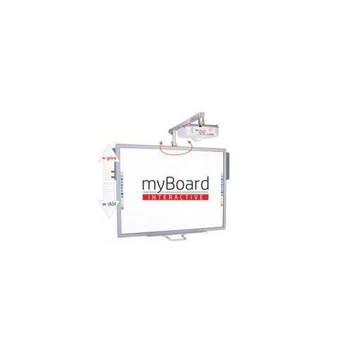 """Myboard Zestaw! tablica silver 70""""c + projektor ultra short epson eb-680 + uchwyt ścienny z reg. wysokości i wysięgnikiem uvis-rw500~70"""" + okablowanie 10 m (230v, hdmi) + głośniki amp-33"""