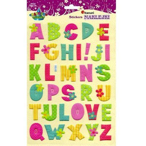 Litery alfabetu, naklejki 19x31cm 33szt, CRAFT-FUN