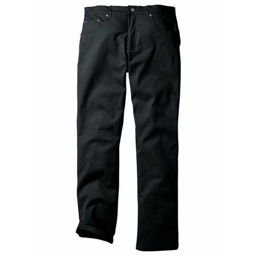 Spodnie ocieplane bonprix czarny, proste