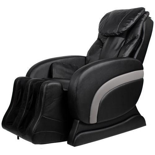 Vidaxl  elektryczny fotel masujący z czarnej eko-skóry