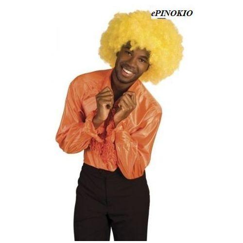 Koszula z falbanami pomarańczowa - M, L, XL - stroje/przebrania dla dorosłych
