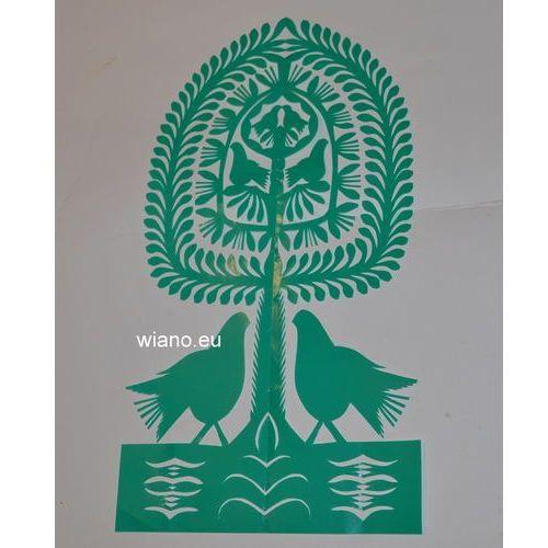Wycinanka ludowa, kurpiowska - leluja, drzewko szczęścia (czk-26)
