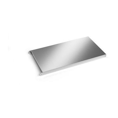 Kek Półka ze stali szlachetnej, półka narożna gładka, szer. x głęb. 740x440 mm. z ma