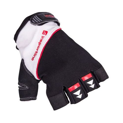 Insportline Rękawice do ćwiczeń fitness na siłownie harjot, czarno-biały, l (8596084065322)