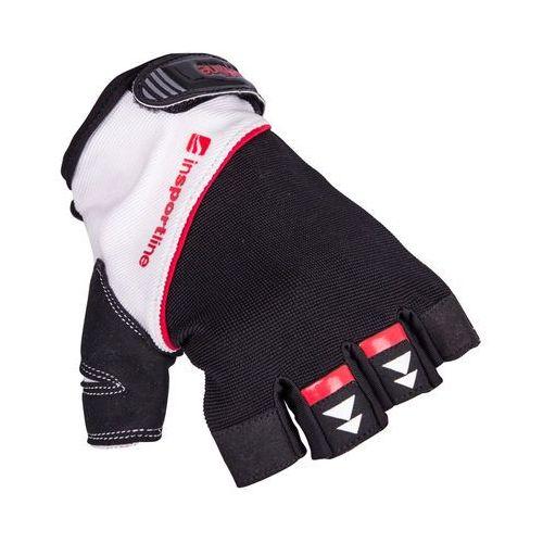 Rękawice do ćwiczeń fitness na siłownie inSPORTline Harjot, Czarno-biały, XL, kolor biały
