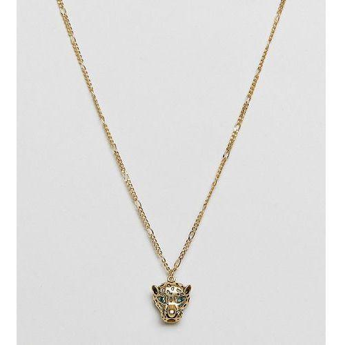Orelia gold plated leopard pendant necklace - gold