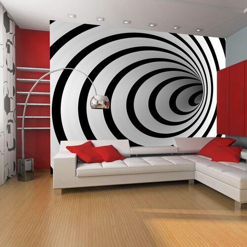 Fototapeta - czarno-biały tunel 3d marki Artgeist