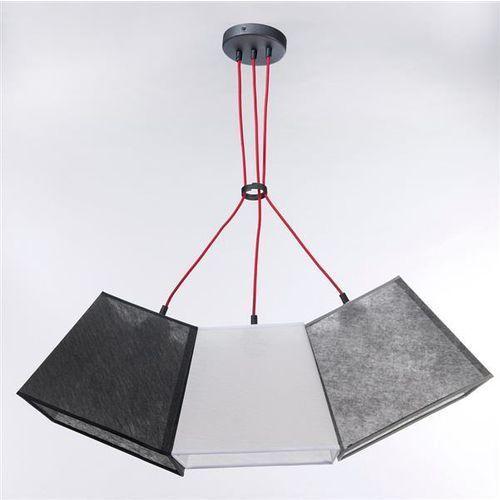 Lampa wisząca werder 3 3227 - szary transparentny/bialy trans./czarny trans. marki Namat