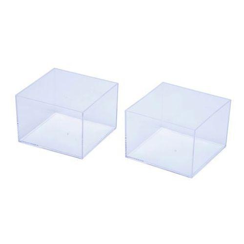 Organizer wysoki transparentny z szufladami 2 szt. (5052931172283)