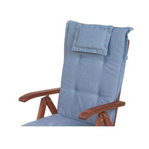 zestaw 2 poduszek na krzesła ogrodowe niebieskie toscana marki Beliani