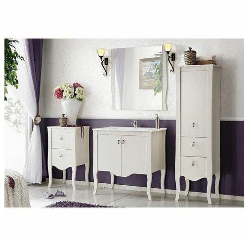 Komplet białych mebli łazienkowych kimberley 80 marki Producent: elior