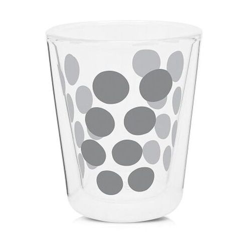 Zak! designs - zestaw 2 szklanek 200 ml z łyżeczkami - srebrny marki Zak!designs