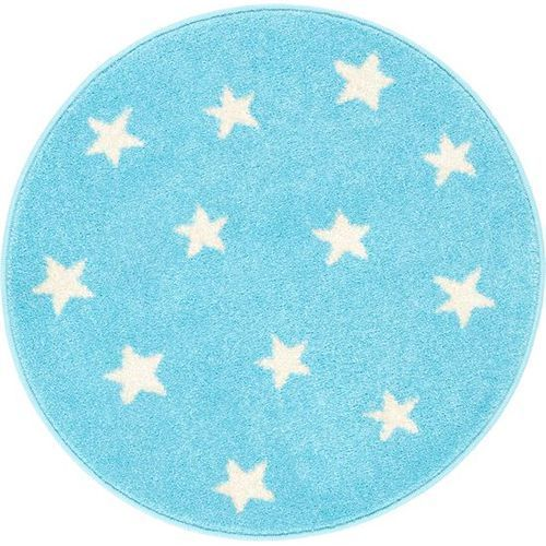Dywan funky top starf błękit (koło) 133x133 marki Agnella