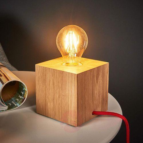 Lampa stołowa Spot Light Trongo 1x60W E27 dąb/czerwony 7171670 (5901602338674)