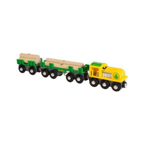 pociąg towarowy transportujący drewno 33775 marki Brio