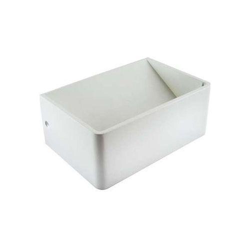 Ideus Kinkiet lampa ścienna beti led 10w 03103 prostokątna oprawa metalowa kostka cube biała (5901477331039)