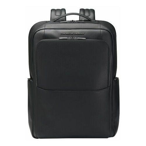 Porsche Design Roadster Plecak skórzana 45 cm przegroda na laptopa black, kolor czarny