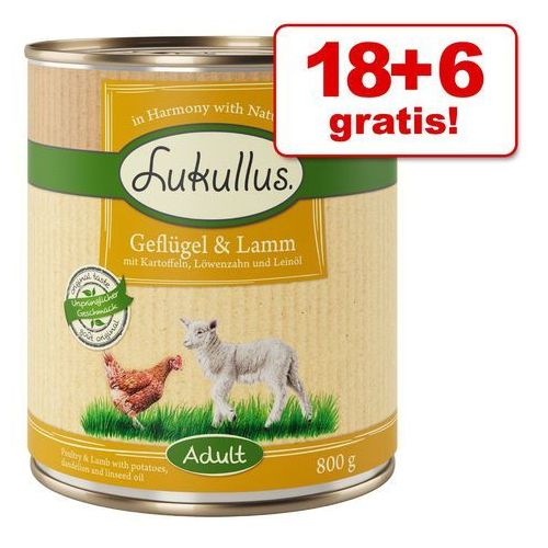 Lukullus 18 + 6 gratis! , 24 x 800 g - lukullus junior, pakiet mieszany