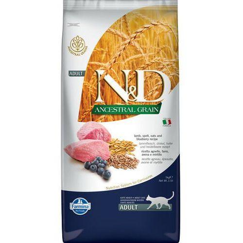 FARMINA N&D Ancestral Grain Lamb & Blueberry Adult Cat 5 kg - DARMOWA DOSTAWA OD 95 ZŁ!