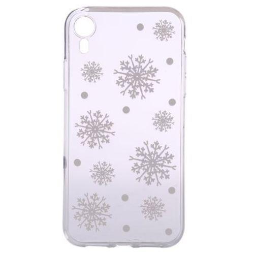 EPICO elastyczna plastikowa obudowa do iPhone XR WHITE SNOWFLAKES, kolor biały