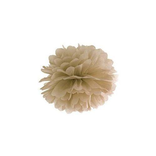 Party deco Dekoracja wisząca pompon kwiat - karmelowa - 25 cm - 1 szt. (5902230711969)