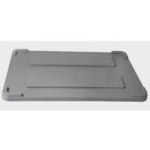 Pokrywa z polietylenu, do dł. x szer. 1200x800 mm, pojemnik 550 l, szary.