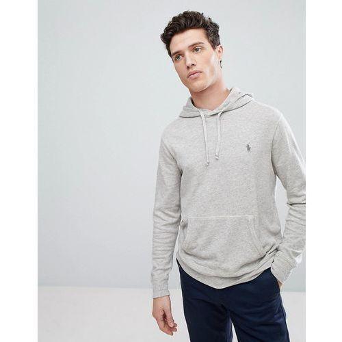 lightweight overhead hoodie in light grey marl - grey marki Polo ralph lauren