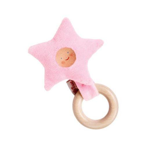 Käthe kruse KÄthe kruse organic drewniany chwytak gwiazdka kolor różowy (4030936250664)