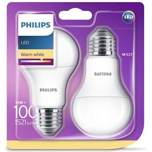 Philips Żarówka LED E27 13W (100W) 1521lm 230V barwa ciepła 86099 (2szt)