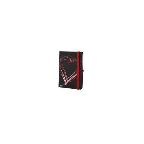 Lediberg Notes a5 lanybook night light w kratkę czarno-czerwony (8057432197398)
