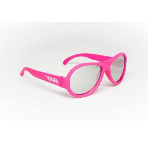 aces aviator okulary przeciwsłoneczne dla dzieci (07-14) różowe/lustrzane szkła marki Babiators