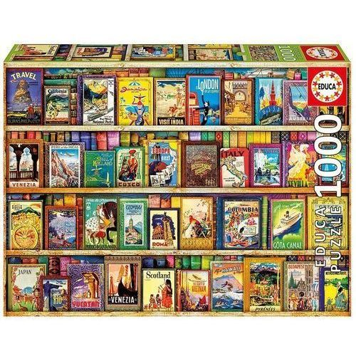 Educa Puzzle 1000 elementów, world travel guides
