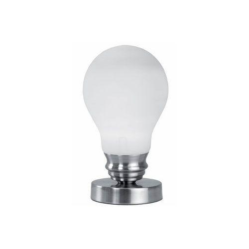 Lampa stołowa lampka Reality Luce 1x40W E14 nikiel mat / biała 508101-07, 508101-07
