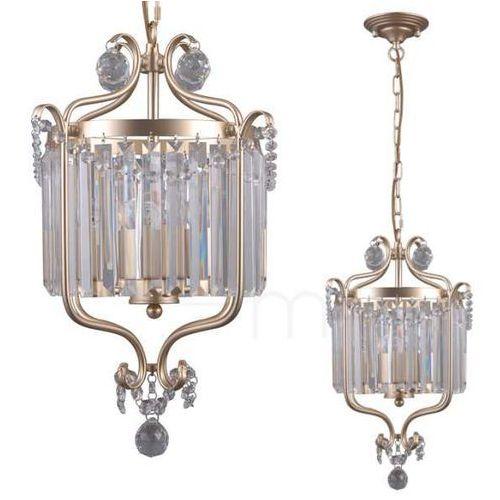 Italux Żyrandol lampa wisząca rinaldo pnd-33057-3-ch.g metalowa oprawa kryształowy zwis na łańcuchu glamour złoty szampański (1000000520330)