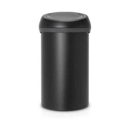 Brabantia - kosz 'touch bin' - pokrywa stalowa - 60l - czarny - czarny (8710755128981)