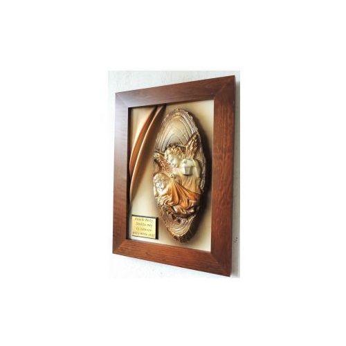 Anioł Stróż - obraz z dedykacją na Chrzciny, Komunię - A3S-1