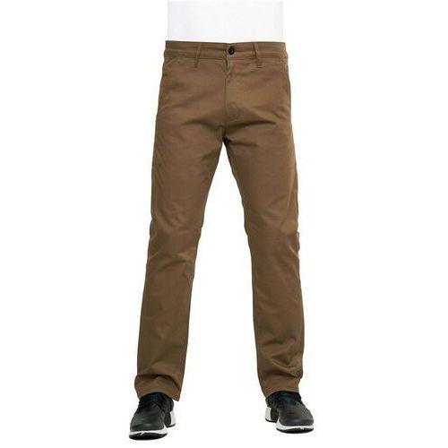 Reell Spodnie - straight flex chino pc brown (150) rozmiar: 32/32