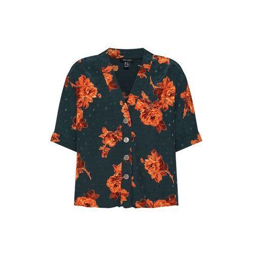 NEW LOOK Tunika 'Fran Floral Jacquard Peggy' zielony / pomarańczowy, w 5 rozmiarach