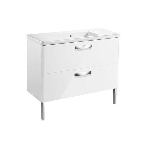 ROCA GAP-N zestaw UNIK 100: umywalka + szafka, kolor BIAŁY POŁYSK A855999806 (8433290394290)