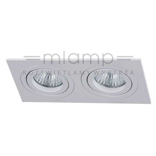 Wpuszczana LAMPA sufitowa FASTO II bianco Orlicki Design metalowe OCZKO podtynkowa OPRAWA prostokątna biała (1000000281644)